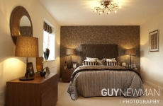 © Pic by Guy Newman. The master bedroom of the Bittaford show home at Cavanna Home's Parish Green development at Lee Mill.